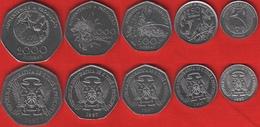 "Sao Tome And Principe Set Of 5 Coins: 100 - 2000 Dobras 1997 ""FAO"" UNC - Santo Tomé Y Príncipe"