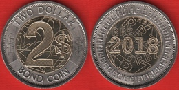 "Zimbabwe 2 Dollars 2018 ""Bond Coin"" BiMetallic UNC - Zimbabwe"