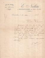 Dépt 77 - HONDEVILLIERS Par Rebais - E. NOLIN - Bois En Grumes Et En Détail - Lettre De 1908 - Autres Communes