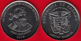 """Panama Medio Balboa 2019 """"500 Years Of Panama City"""" UNC - Panama"""