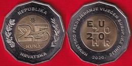 """Croatia 25 Kuna 2020 """"Presidency Of EU"""" BiMetallic UNC - Croatia"""