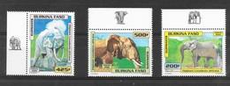 Burkina Faso 2000 MiNr. 1770 - 1772 ANIMALS Elefants ELEPHANTS 3v MNH** 60,00 € - Burkina Faso (1984-...)