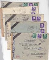 6 Zensur Fa.Briefe Aus CARBONIA, TERNI Aus 1942/43 Nach Berlin-Siemensstadt An Siemens-Schuckertwerk / Beide Zensuren - Marcophilia