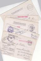 5 POW Karten Aus M.Stammlager IV A Nach MARSEILLE - UNBESETZTES GEBIET - Allemagne