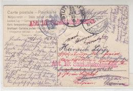 Feldpost Die Ein Bischen Unterwegs War 15.1.15 A.A.Falkenhausen 23.1.15 Stuttgart Dann Zurück Der Soldat War Aber Nicht - Germany