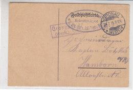 Feldpostkarte Aus GRONAU 24.7.15 Nach Hamborn / Zensur Gronau - Germany
