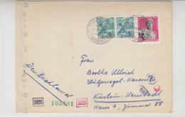 Zensurbrief Mit Bahnpost Interlaken-Grindelwald 13.5.44 Nach Küstrin In Die Stülnagel-Kaserne / Brief War Gefaltet - Schweiz