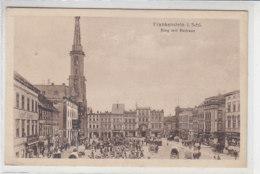 Frankenstein I.Schles. - Ring Mit Rathaus - 1918 Aus PROTZAN - Feldpost - Schlesien