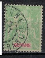 GUYANE           N°  YVERT     43    ( 6 )       OBLITERE       ( OB 07/15 ) - Guyane Française (1886-1949)
