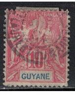 GUYANE           N°  YVERT     44   ( 4 )         OBLITERE       ( OB 07/15 ) - Usati