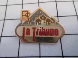 716c Pin's Pins / Beau Et Rare / THEME : MEDIAS / JOURNAL LA TRIBUNE MINE CARREAU PUITS - Medien