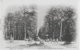 THOIRE-SUR-DINAN ET CHAHAIGNES - UNE HALTE DES FORESTIERS AU ROND DU CLOCHER - CARTE PRECURSEUR - SUPERBE ANIMATION-1900 - France
