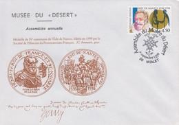 Enveloppe  FRANCE  PROTESTANTISME   Assemblée  Musée  Du  DESERT   MIALET   1998 - Christianity