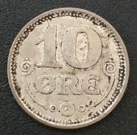DANEMARK - DENMARK - 10 ORE 1917 - Christian X - Argent - Silver - KM 818 - Danemark