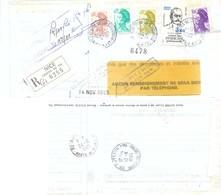 LR NICE CENTRE DE TRI ALPES-MARITIMES TàD 23-10-1985 AVISÉ Le 5-11, REFUSÉ, RETOUR 12-11 + NON RÉCLAMÉ .. - Postmark Collection (Covers)