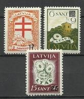 LETTLAND Latvia 1931 Michel 181 & 184 & 186 * - Latvia