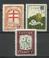 LETTLAND Latvia 1931 Michel 181 & 184 & 186 * - Lettland