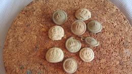 9 WW1 Dug German Buttons - 1914-18
