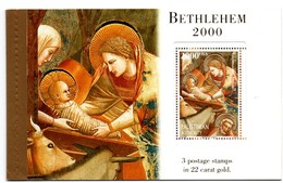 Palestinian Authority - Noël 2000 Christmas - Autorité Palestinienne - Bethléem Bethlehem - Carnet Or Gold - Israel - Palestine