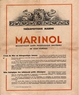 Dépliant Publicitaire Du Reconstituant MARINOL - Publicités