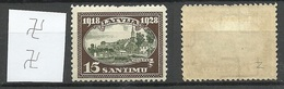 LATVIA Lettland 1928 Michel 133 * WM Inverted Vertical - Lettland