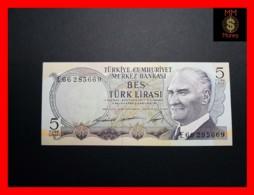 TURKEY 5 Turk Lirasi 1968  P. 179  UNC - Turkey