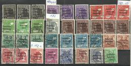 """Sowjetische Zone 182-197 Auß.191 """" 35 Briefmarken  Mit Farbunterschieden """" Gut Gestempelt Mi.34,00 - Zona Soviética"""