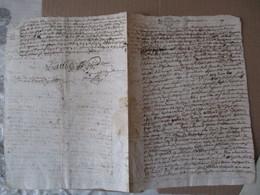 1679 JUGEMENTS A CONTAMINE PETIT CACHET GENERALITE - Manuscrits