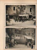 2 Photographies Sur Carton De 1917/1918  Kermesse Fêtes D'un Village à Indentifier - Lieux