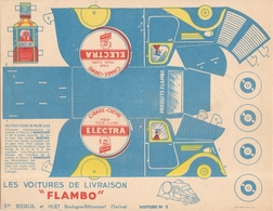 Publicite Flambo Les Voitures De Livraison Electra  Bisseuil Huet - Publicités
