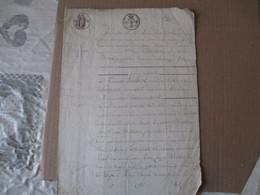 LEVAL LE 10 JANVIER 1822 VENTE PAR HYACINTHE GUILBERT FEMME DE HENRI BRUYERRE A BERLAIMONT A PIERRE GOSSEAU A LEVAL - Manuscrits