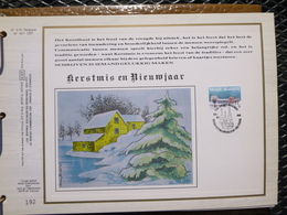 """BELG.1988 2307 : """" KERSTMIS """" Filatelistische Kaart Zijde NL.(CEF), Gelimiteerde Oplage - FDC"""