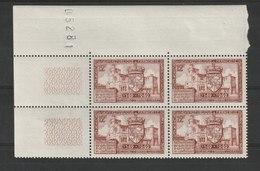 FRANCE - YT N° 839 X 4 Cdf - Neufs ** - MNH - Nuovi