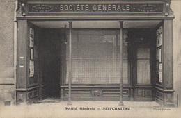PHOTO : Neufchateau : La Société Générale, Photo D'une Ancienne Carte Postale, 2 Scans - Lieux