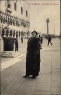 Cp Venezia Venedig Veneto, Piazzetta S. Marco, Frau - Italien
