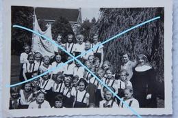 Photo LOKEREN Naast Lochristi Zele Institution Catholique Onze Lieve Vrouw Presentatie 1953 Drapeau Vlag - Lieux