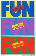 Fun Radio. Lot De 3 Autocollants. 53x104mm - Adesivi