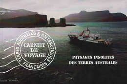 TAAF Carnet De Voyage Paysages Insolites à La Valeur Faciale Contenant 16 Timbres à Valeur Permanente - Libretti