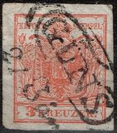 Autriche - 1850 - Y&T 3 MI 3 Oblitéré Güns - Oblitérés