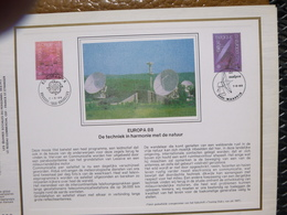 """BELG.1988 2283 & 2284 : """" EIROPA 88 """" Filatelistische Kaart Zijde NL.(CEF), Gelimiteerde Oplage - FDC"""