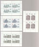 DDR 1987 Michel Nr. 3075-78 **, Alle Postfrisch, Kleinbogen 1 Bis 4, 750 Jahre Berlin - Blocks & Kleinbögen