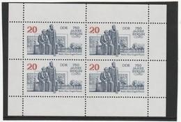 DDR 1987 Michel Nr. 3077 ** Postfrisch, Kleinbogen 3, 750 Jahre Berlin - Blocks & Kleinbögen
