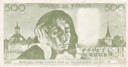 Billet Fictif  500 Fr - Asco  - Scolaire - - Specimen