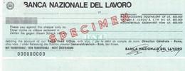 Billet Fictif -  Cheque  - Italie   - Banque  Nationale  - - Specimen