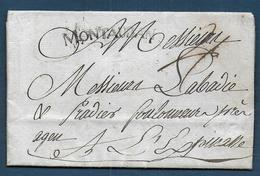 Marque MONTAUBAN  Sur Lettre De 1784 Pour Agen Lespinasse - Marcophilie (Lettres)