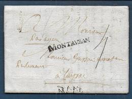 Marque MONTAUBAN  Sur Lettre De 1770 Pour Layrac - Marcophilie (Lettres)