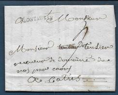 Marque MONTAUBAN  Sur Lettre De 1789 Pour Castres - Marcophilie (Lettres)