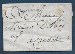Marque MONTAUBAN  Sur Lettre De 1788 Pour Caussade - Marcophilie (Lettres)