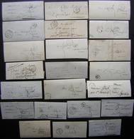 Paris, Lot De 22 Lettres Précurseur, Différents Cachets, Certaines Avec Cursive à L'arrière, Voir Photos De Détail - 1801-1848: Precursori XIX