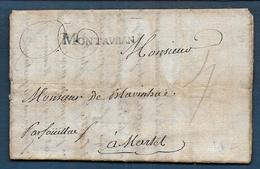 Marque MONTAUBAN  Sur Lettre De 1771 Pour Martel - Marcophilie (Lettres)